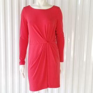 Ali Ro Sheath Long Sleeve Knotted Front Dress